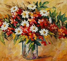 WILDFLOWERS- original oil painting on canvas by Leonid Afremov by Leonid  Afremov