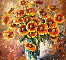 SUNNY LOVE - original oil painting on canvas by Leonid Afremov by Leonid  Afremov
