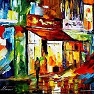 THE SONG OF THE CITY- original oil painting on canvas by Leonid Afremov by Leonid  Afremov