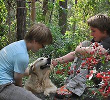 Boys and their Dog by Ashleigh Bartlett