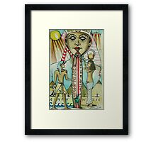 Kings Of The Sun  ( Ankh Wear, Ancient Surf Co ) Framed Print