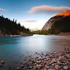 Banff, Alberta Canada - Bow River  by camfischer