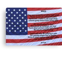 WINGS:  Remembering 9/11 Canvas Print
