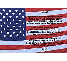 WINGS:  Remembering 9/11 Photographic Print