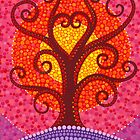 Heart Energy Radiating Tree by Elspeth McLean