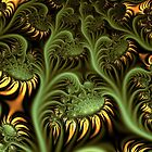 Sunflowers in UltraFractal by Heleen Hekkenberg