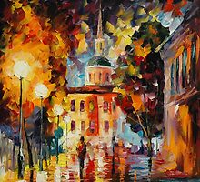 ADMIRATION - original oil painting on canvas by Leonid Afremov by Leonid  Afremov
