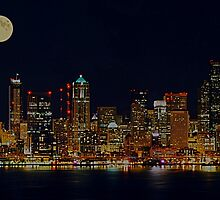 Full Moon Over Seattle by Tori Snow