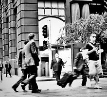 Downtown Sydney - Martin Place. by Lynne Haselden