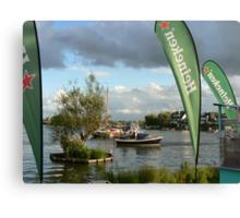 boat&Heineken:) Canvas Print