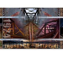 Matapihi Railway Bridge, morning, noon and night. by Ken Wright