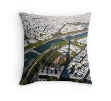 Paris in the air Throw Pillow
