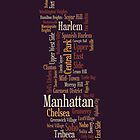 Manhattan New York Typographic Map by ArtPrints
