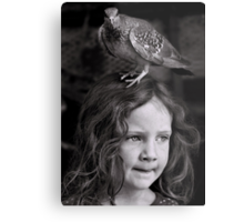 If I don't find my brush soon, I'm pretty sure this bird is gonna stay... Metal Print