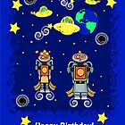 Space Robot Birthday by JanDeA