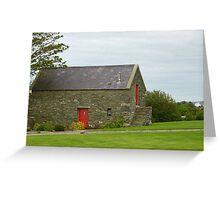 Irish Barn Conversion with Red Doors Greeting Card