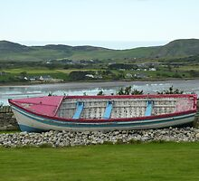 A Retired Boat Beside The Water by Fara