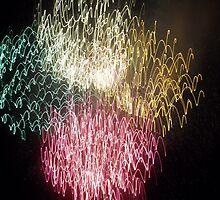 Fireworks- Venetian Festival, Charlevoix, Michigan by Melissa Delaney