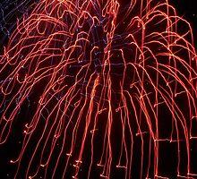 Fireworks- Venitian Festival, Charlevoix, Michigan by Melissa Delaney