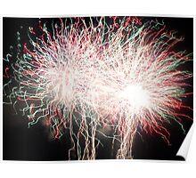Fireworks- Venitian Festival, Charlevoix, MI Poster