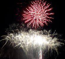 Fireworks- Venetian Festival, Carlevoix, Michigan by Melissa McKenzie
