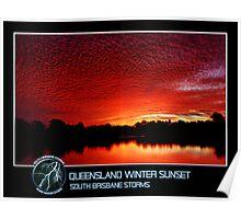 Branded: Queensland Winter Sunset Poster