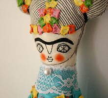 Blue Frida by caracarmina