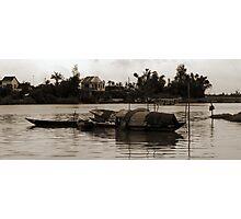 Hoi An Canal - Sepia Photographic Print