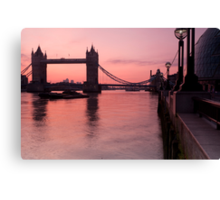 Tower Bridge Sunrise Canvas Print