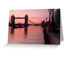 Tower Bridge Sunrise Greeting Card