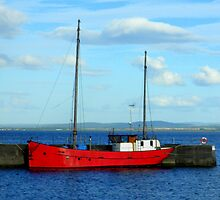 Sailing Boat at Fortrose Harbour  by ©The Creative  Minds