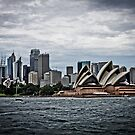 The city of Sydney from the Manly ferry by 28aboveSea