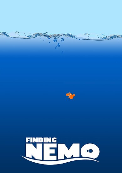Finding Nemo minimal poster by Zoe Toseland