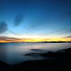 last winter sunrise. bicheno, tasmania by tim buckley | bodhiimages photography