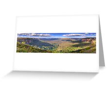 Shadows & Light - Govetts Leap, Blue Mountains, Sydney (30 Exposure HDR Panorama) - The HDR Experience Greeting Card