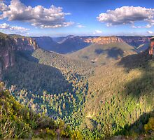 Majesty  Second Cut- Govetts Leap, Blue Mountains, Sydney  - The HDR Experience by Philip Johnson
