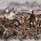 World War 1 - The Battle of Ypres by Richard Jack by Dennis Melling