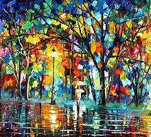 THE LONELINESS OF AUTUMN - original oil painting on canvas by Leonid Afremov by Leonid  Afremov