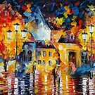 UNUSUAL CITY - original oil painting on canvas by Leonid Afremov by Leonid  Afremov