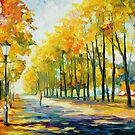 FALL'S PATH - original oil painting on canvas by Leonid Afremov by Leonid  Afremov