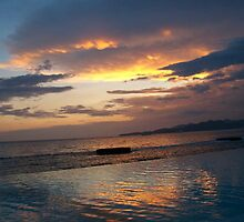 Ocean sunset by YogiColleen