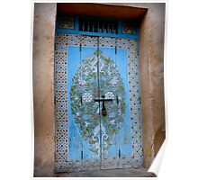 Door in the Courtyard of the Kasbah des Oudaias  Poster