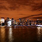 Manhattan Lights Beaming by Nycon360
