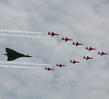 Vulcan and Red Arrows by J0KER