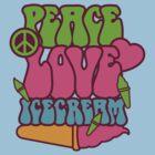Peace, Love, Ice Cream by Kazurian