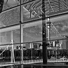 auckland harbour reflections n.1 by dennis william gaylor