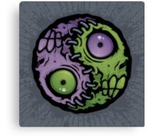 Zombie Yin-Yang Canvas Print