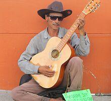 Guitarist - playing in the street of PV - El guitarrista - tocando en la calle de PV by Bernhard Matejka