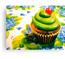 Cupcakes and Violets Canvas Print