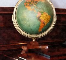 Globe on Piano by Susan Savad